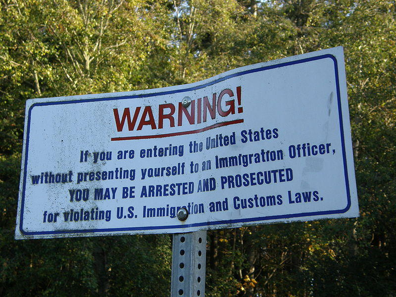 Sign at the U.S. Border