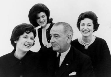 Photo: Former President Lyndon B. Johnson and First Lady Lady Bird Johnson with their daughters Lynda Bird Johnson, left, and Luci Baines Johnson in this Nov. 30, 1963, family photo.