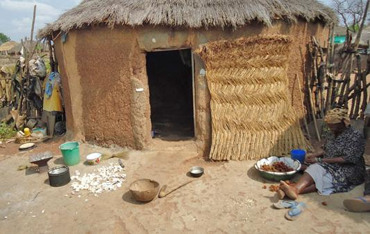 Photo: A 'Witch Camp' in Kukuo, a small community near the Oti river in the northern region of Ghana.