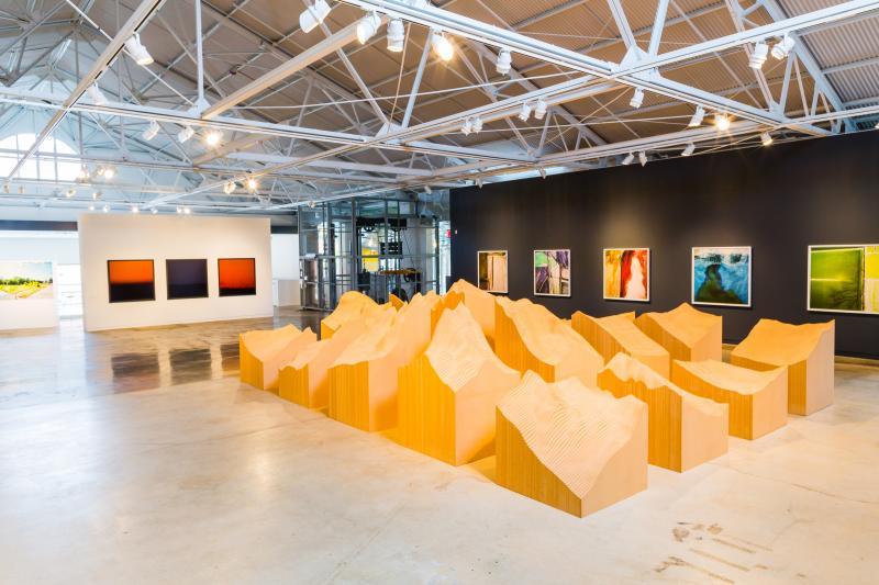 """Surveying the Terrain"" at CAM Raleigh. Artists: Maya Lin, David Maisel, Trevor Paglan"