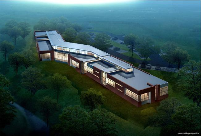An artist's rendering of the Northeast Regional Library planned for Raleigh.
