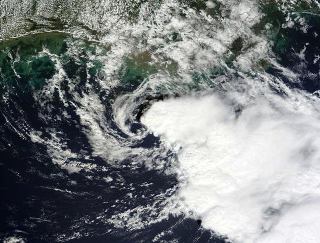 Tropical Storm Karen as it moved over Florida Saturday.