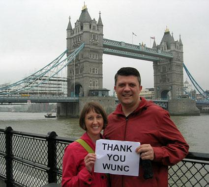 Two WUNC London winners from a fund drive a few years back