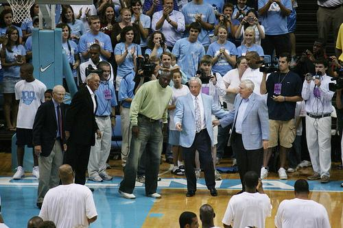 Alumni Game Dean Smith Roy Williams Michael Jordan