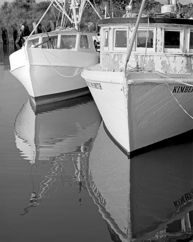 Photograph from Larry Earley's new book Workboats of Core Sound, published by UNC Press.