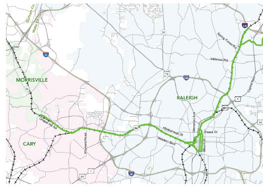 A 14-mile light rail line is part of Triangle Transit's proposal for Wake County.