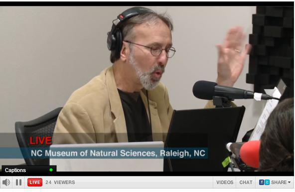 Frank Stasio hosting 'The State of Things' from Museum of Natural Sciences in downtown Raleigh