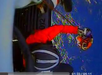 Scene from Sunday rescue of Wings crew in Atlantic Ocean