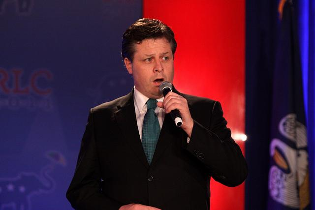 Anthony Kearns singing at the Republican Leadership Conference in New Orleans, Louisiana.