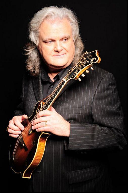 Ricky Skaggs holding mandolin