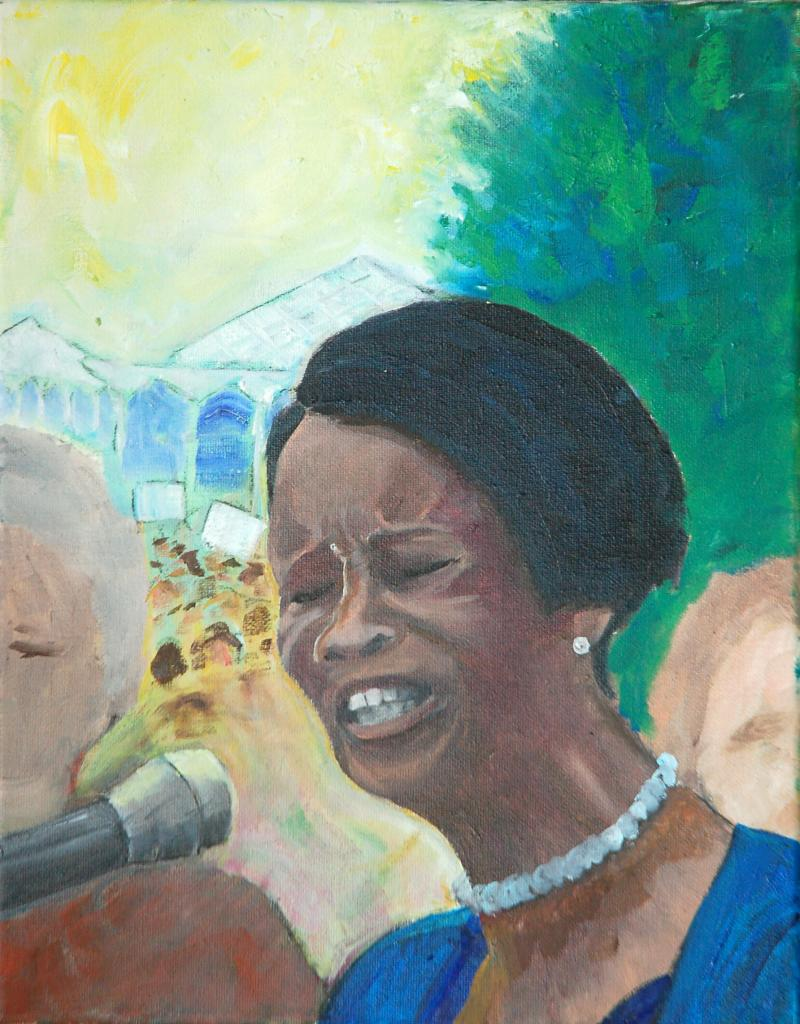 "This painting only focuses on Senator Parmon. ""I didn't want William Barber to dominate too many of the paintings. I also thought this face says it all. ""  - David Taylor"