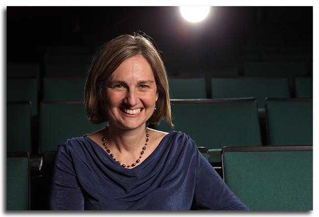 Eliana Perrin, MD, MPH, and professor of Pediatrics at the UNC-Chapel Hill School of Medicine. sitting in a movie theater