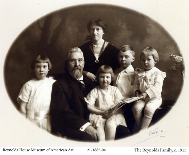 Katharine Smith Reynolds with her husband, RJ Reynolds and their children