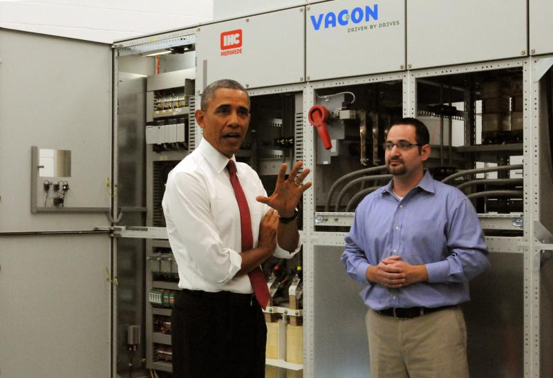 Obama at Vacon