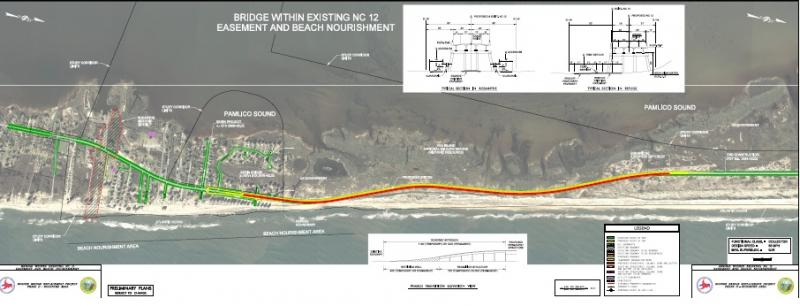 The new Rodanthe Bridge could go along the current easement for N.C. 12