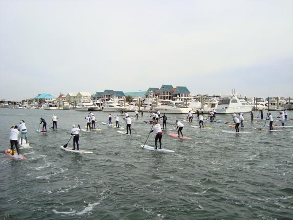 120 Paddleboarders from around the world are expected to compete.