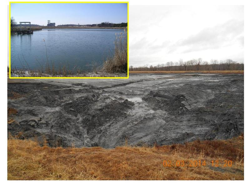 PHOTO: The coal ash pond at the Duke Energy power plant by the Dan River