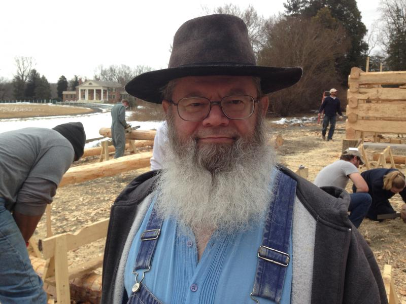 Maxwell Shaw traveled from Cumberland, Maryland to help rebuild the slave cabin.