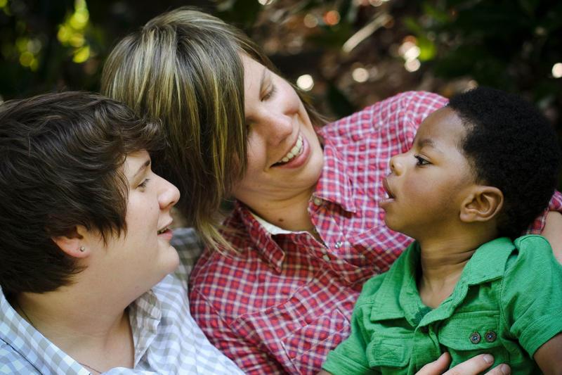 Shana Carignan (left) and Megan Parker with Jax