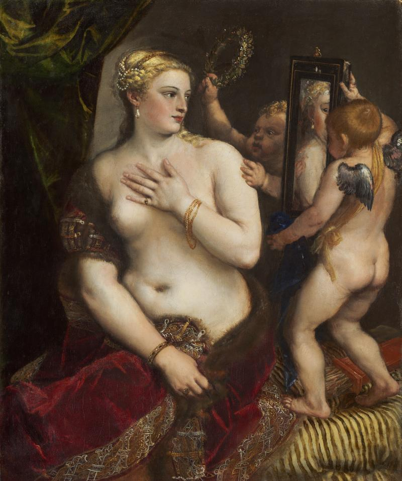 Images like this one, Titian's 'Venus with a Mirror' were hidden away at the Biltmore Estate during World War II