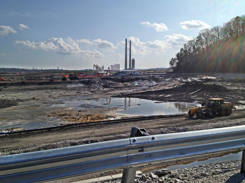 The cleanup for the 2008 Tennessee coal ash disaster. Image taken March 2012.