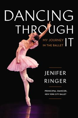 Dancing Through It My Journey In The Ballet Image of Jennifer in Pink Costume against black background