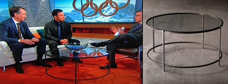 Charleston Forge table featured on Sochi Olympic set