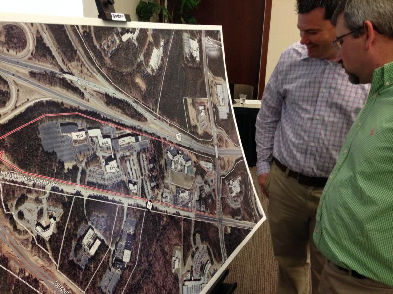Josh Dunbar and Zachary Lyon of Falcon Engineering look at new plans for RTP.