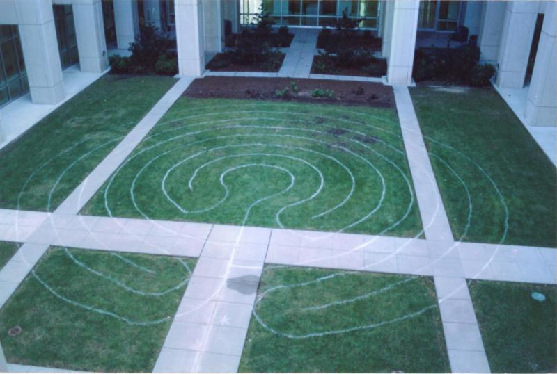 Labyrinth created by inmates at Butner medical facility