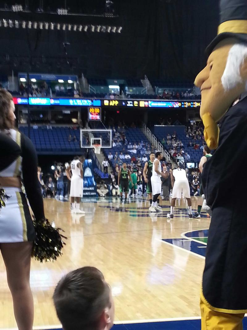 With at least one deacon looking on, Wake Forest topped Notre Dame 81-69, for its first ACC Tournament win since 2007.