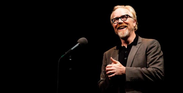 Adam Savage tells his story on The Moth stage