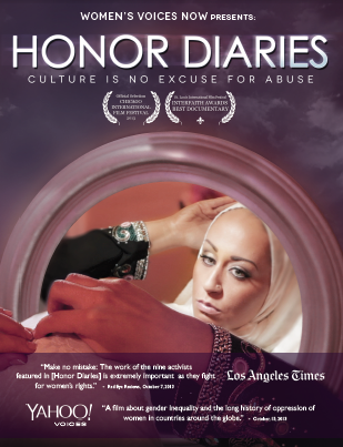 Film poster for Honor Diaries: A documentary about honor-based violence.