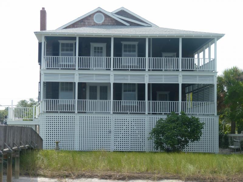 The 1937 James D. and Frances Sprunt Cottage exemplifies stylish beach cottages constructed in Wrightsville Beach during the early 20th century by well-to-do residents of neighboring Wilmington