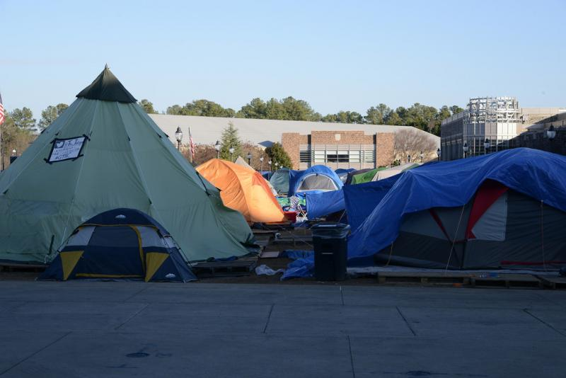 'The Crazies' camp out for weeks in order to sit in the best spots in the stadium.