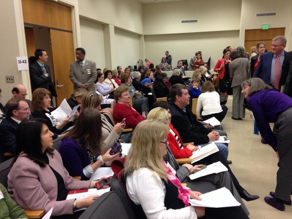 About 60 people had the opportunity to share their thoughts on Common Core to lawmakers during Thursday's legislative meeting.
