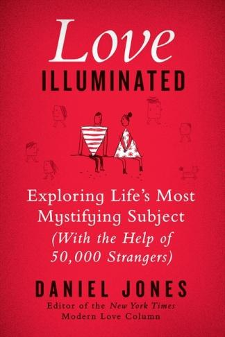 Book cover of Love Illuminated shows a cartoon couple