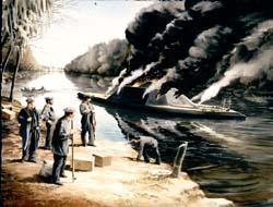 The Neuse is Scuttled - March 1865