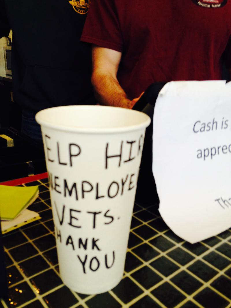 Workers at Intrepid Life are paid a living wage. Tips go to help veterans.