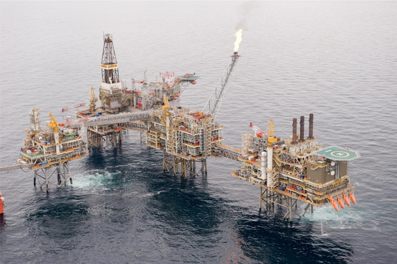 A Suncor Energy oil rig in the North Sea's Buzzard field, between England and Norway.