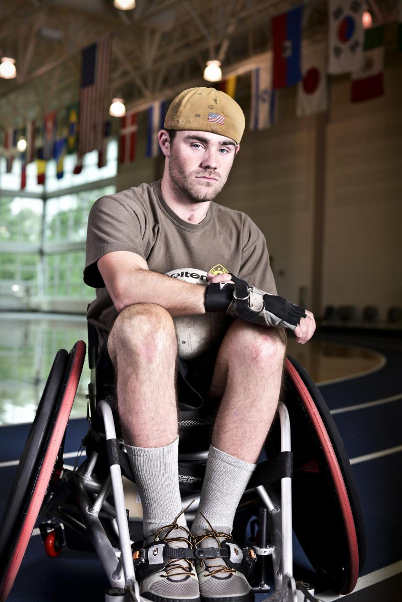 Ryan Wetter's friend Ben Tomlinson was injured during service in Afghanistan. Ryan is the medic who helped him survive.