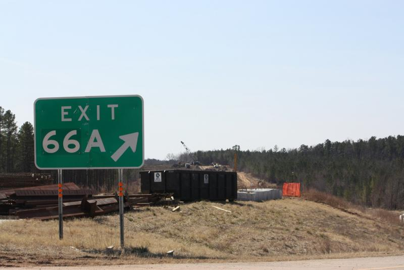 Photo: Highway construction in Central North Carolina