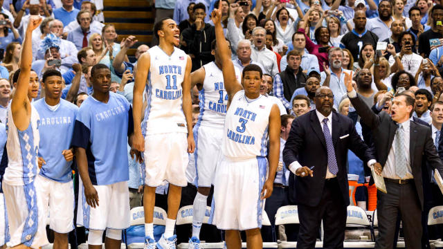 The Tar Heel bench