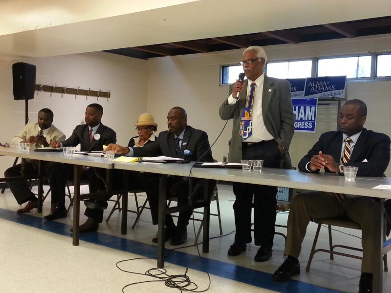 Alma Adams (third from left) beat all of her Democratic Primary Challengers on Tuesday night.