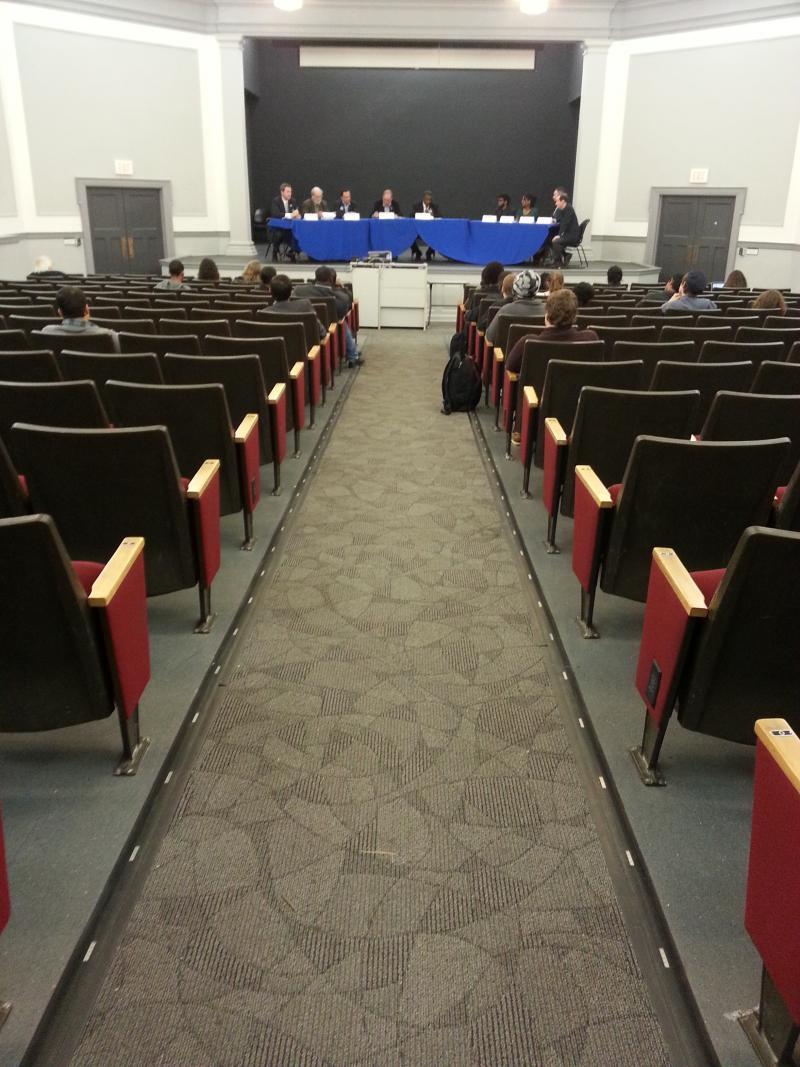 It was a small audience at a forum for 6th Congressional candidates at UNC-Greensboro last week.