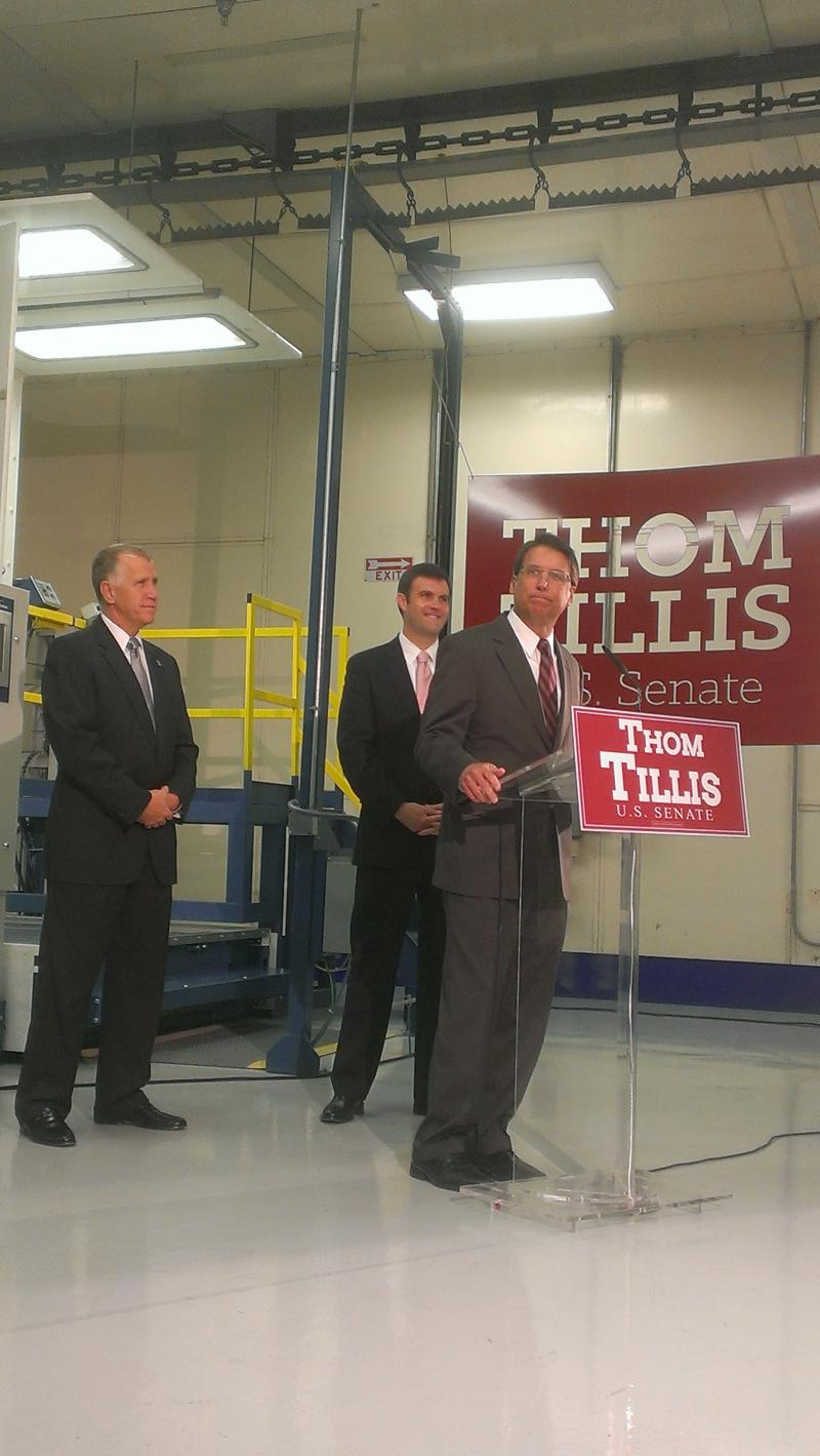 Governor Pat McCrory, Thom Tillis