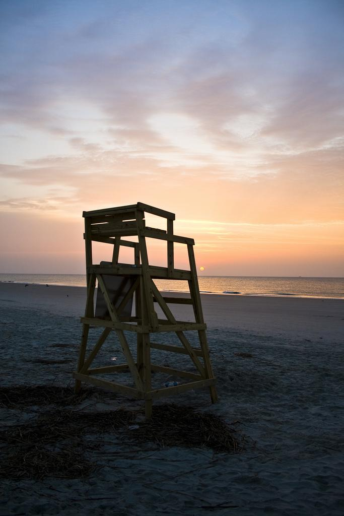 'Sunny Side Up' A picture of  a lifeguard chair