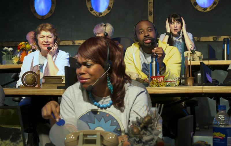 Marcia Edmundson, Lakeisha Coffey, Thaddaeus Edwards, and Mary Guthrie as The Fathom Town Enforcers