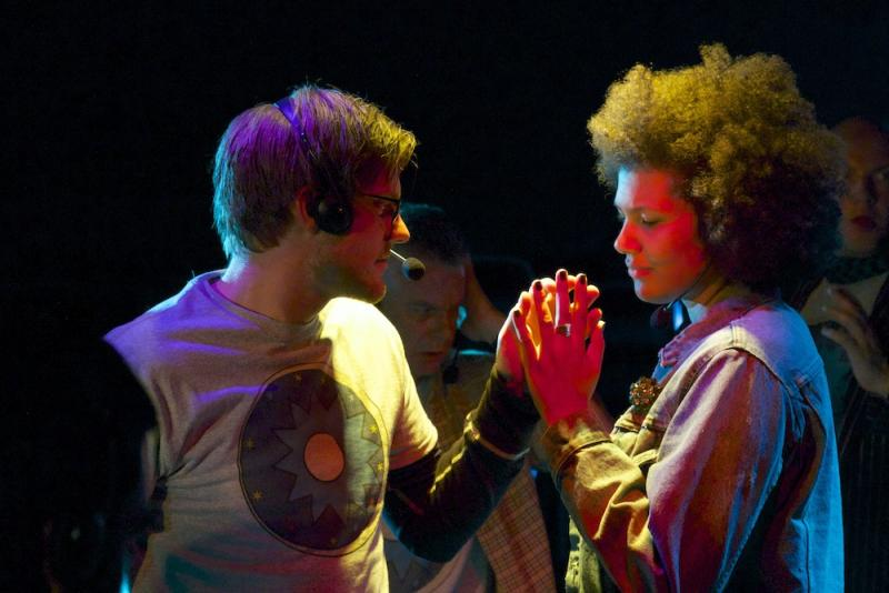Jon Haas as The Tune and Jessica Flemming as Memory Lass