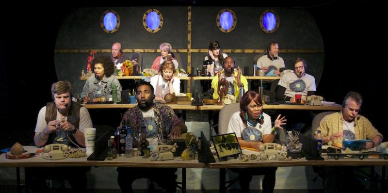 "The cast as The Fathom Town Enforcers in ""Spirits to Enforce"" by Mickle Maher"