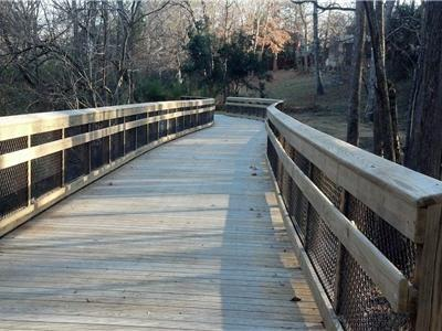 Raleigh greenway boardwalk